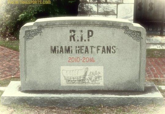 Miami Heat Headstone