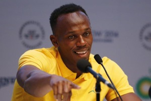 Jamaica's Usain Bolt speaks at a news conference at the 2014 Commonwealth Games in Glasgow