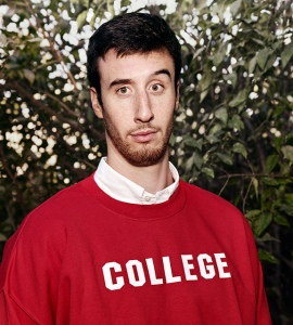 Frank Kaminsky, photographed October 8th, 2014, in Madison, Wisconsin. Credit: Photograph by Art Streiber, styling by Kim Stafford