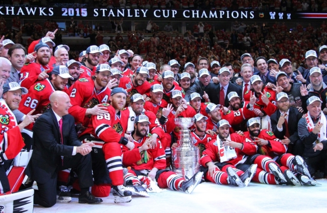The Chicago Blackhawks Finish An Impressive Season With The Stanley Cup Trophy!!